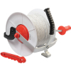 Geared reel with polywire